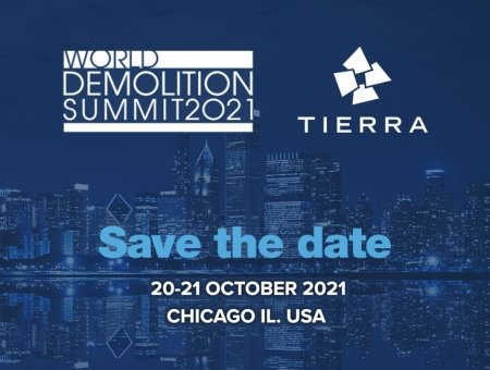 SAVE THE DATE! Tierra will attend the World Demolition Summit in Chicago Illinois, USA.